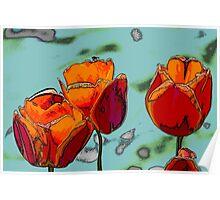 tulip in spring Poster