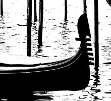 gondolas in Venice by spetenfia