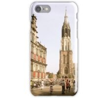 """Old Town Square, Delft and the """"New Church"""" iPhone Case/Skin"""