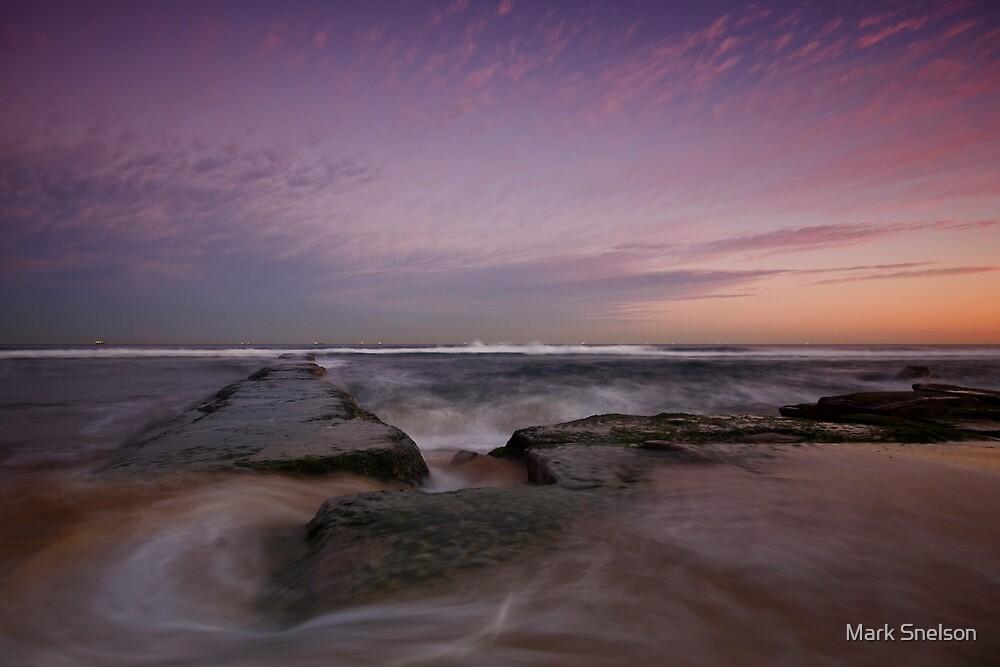 Bar Beach at Dusk 3 by Mark Snelson