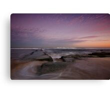 Bar Beach at Dusk 3 Canvas Print