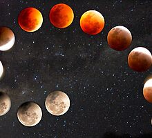 Eclipsing Moon by hillsrain