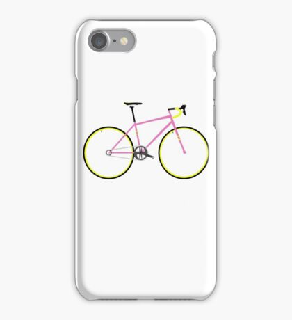 Pink and Yellow Road Bike  iPhone Case/Skin