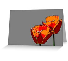 tulip in spring Greeting Card