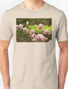 Blooming Magnolia Tree Close-up Unisex T-Shirt