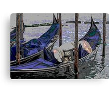 gondolas in Venice Canvas Print