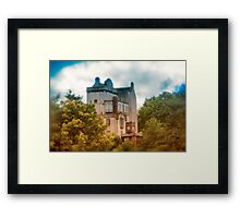 Delgatie Castle in Autumn's Glory (near Turriff, in Aberdeenshire, Scotland) Framed Print