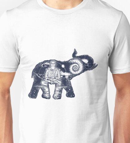 Elephant double exposure Unisex T-Shirt