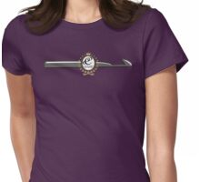 CROCHET QUEEN CROCHET HOOK MONOGRAM Womens Fitted T-Shirt