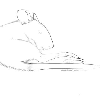 sleeping rat Sticker