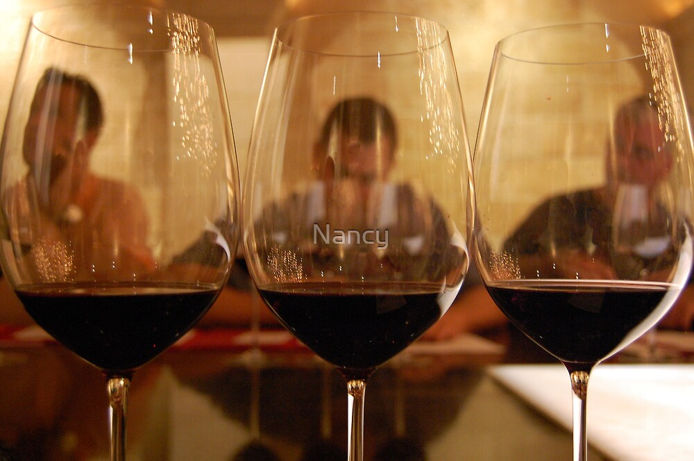 Reflection of wine tasting by Nancy