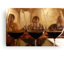 Reflection of wine tasting Canvas Print
