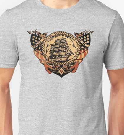 Rocked in the cradle of the deep design Unisex T-Shirt