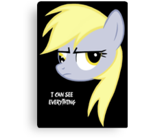 I can see everything - Derpy hooves Canvas Print