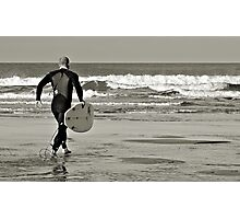 Surfs Up; even in November Photographic Print