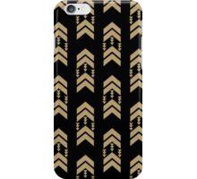 Gold Chevron - geometric chevron pattern in black and gold glitter iPhone Case/Skin