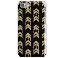 Gold Chevron - geometric chevron pattern in black and gold glitter iPhone Case/Skin