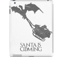 Game of Thrones Christmas Card: Santa is Coming (with Dragons) iPad Case/Skin