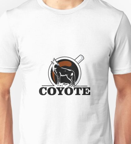 coyote howling at the moon vintage coffee Unisex T-Shirt