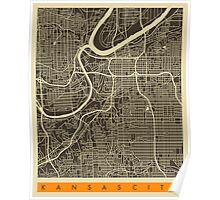 KANSAS CITY MAP Poster
