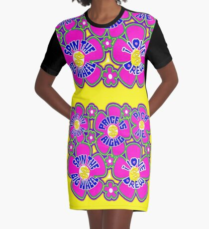 TV Game Show - TPIR (The Price Is...) Flower Spin Power Graphic T-Shirt Dress