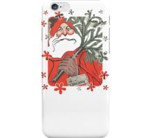 A Traditional Merry Christmas Greeting Card iPhone Case/Skin