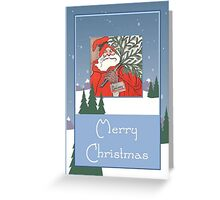 A Traditional Merry Christmas Greeting Card Greeting Card