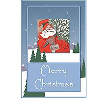 A Traditional Merry Christmas Greeting Card Photographic Print