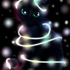 Christmas Light Cat by LARiozzi