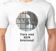 Orangenhauben-Kakadu hinter Gittern Unisex T-Shirt