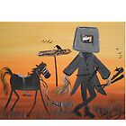 Ned Kelly  Last grass horsey by LynnePickeringArt