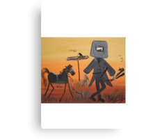 Ned Kelly  Last grass horsey Canvas Print