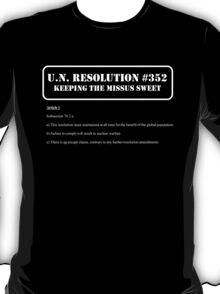 UN Resolution T-Shirt T-Shirt