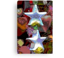 Christmas decorative star Canvas Print