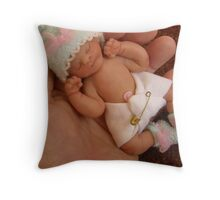 My sculpted baby Claire Throw Pillow