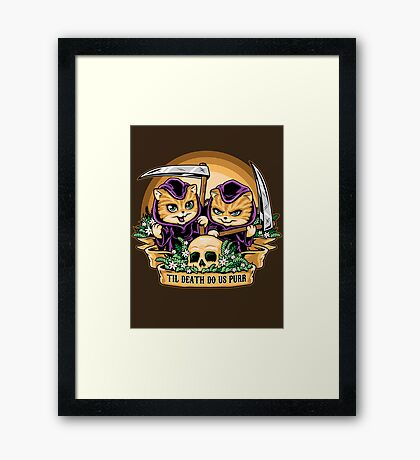 Til Death Do Us Purr Framed Print