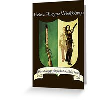 Firefly House Crest - Zoe Greeting Card