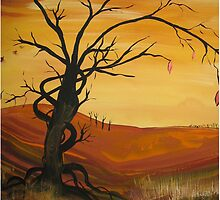 SLEEPY HOLLOW SURREAL  LANDSCAPE by LynnePickeringArt