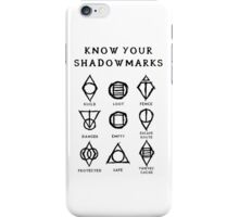 Know Your Shadowmarks (Dark) iPhone Case/Skin