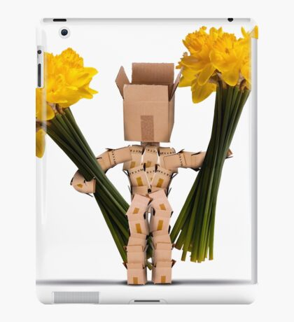 Boxman holding large bunches of daffodils iPad Case/Skin
