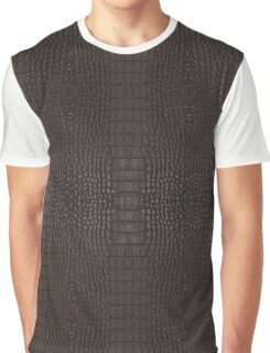 Brown Gator Leather Graphic T-Shirt