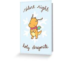 Dragonite Christmas Greeting Card