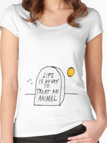 Life. Women's Fitted Scoop T-Shirt