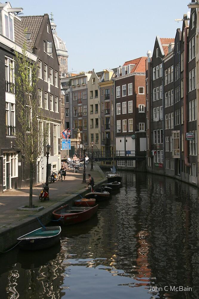 Amsterdam canal by John C McBain