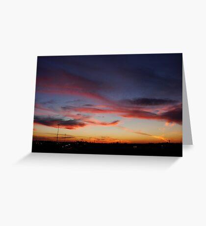 Edmonton Sunset Greeting Card