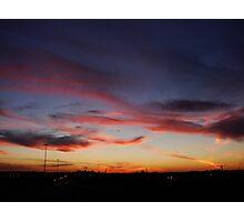 Edmonton Sunset Photographic Print