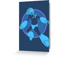 Retro Blue Hero Greeting Card