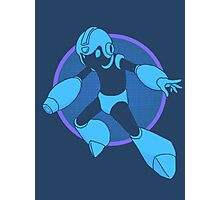 Retro Blue Hero Photographic Print