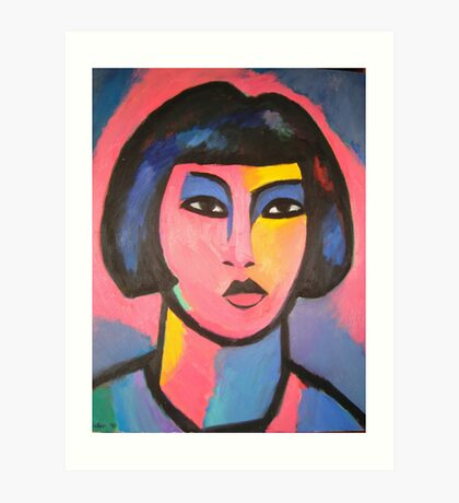 Head of Girl Art Print