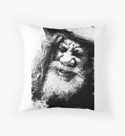 Aboriginal Busker Throw Pillow